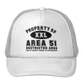 Propiedad del área 51 gorras de camionero