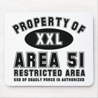 Propiedad del área 51 alfombrilla de raton