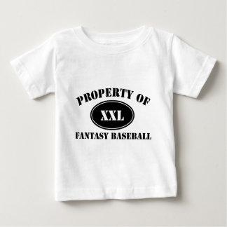 Propiedad del béisbol de la fantasía tshirt