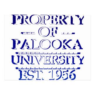 Propiedad del blanco de la universidad de Palooka Postales