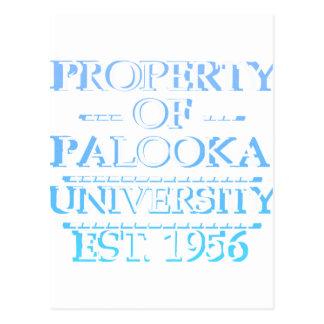 Propiedad del blanco de la universidad de Palooka Tarjetas Postales