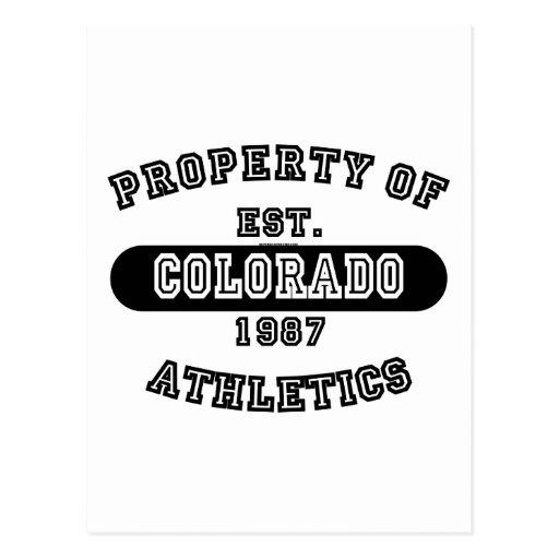 Propiedad del camisetas de Colorado Tarjetas Postales
