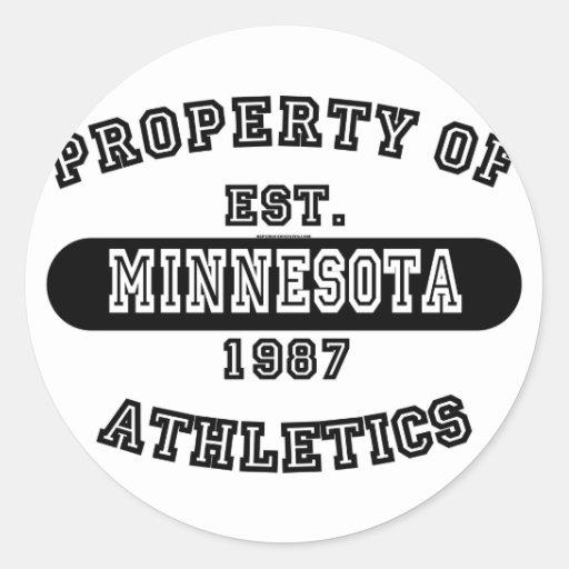 Propiedad del camisetas de Minnesota Etiqueta Redonda