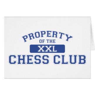 Propiedad del club de ajedrez XXL Tarjeta De Felicitación