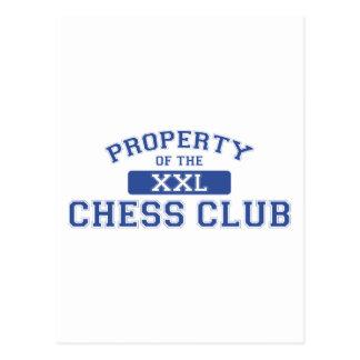 Propiedad del club de ajedrez XXL Tarjeta Postal