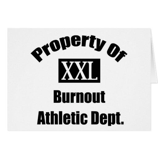 Propiedad del departamento atlético de la quemadur tarjeton