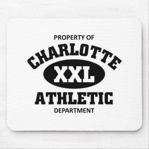 Propiedad del departamento atlético del xxl de Cha Alfombrillas De Raton