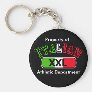Propiedad del departamento atlético italiano llavero redondo tipo pin