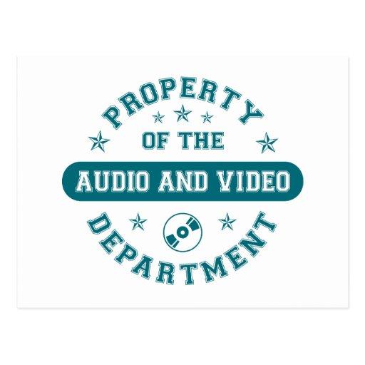 Propiedad del departamento audio y video postales
