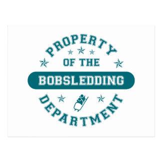 Propiedad del departamento Bobsledding Tarjeta Postal