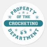 Propiedad del departamento Crocheting Etiquetas