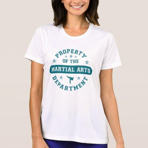Propiedad del departamento de artes marciales playera