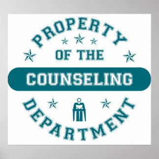 Propiedad del departamento de asesoramiento póster
