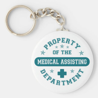 Propiedad del departamento de ayuda médico llavero