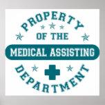 Propiedad del departamento de ayuda médico posters