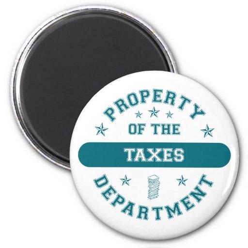 Propiedad del departamento de impuestos imán redondo 5 cm