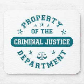 Propiedad del departamento de justicia penal alfombrilla de ratones