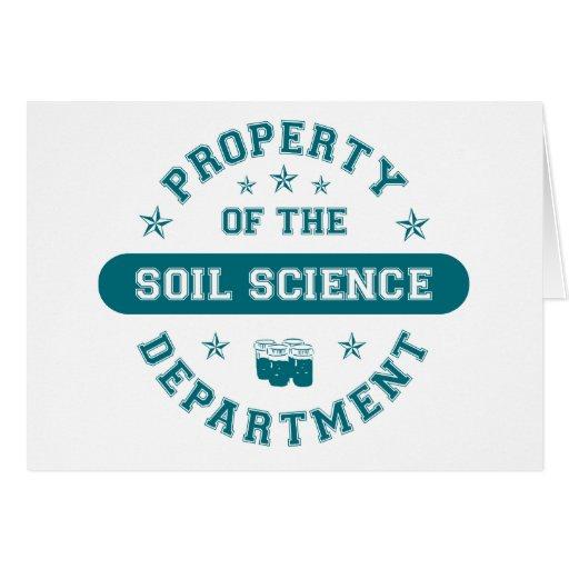 Propiedad del departamento de la ciencia de suelo tarjetas