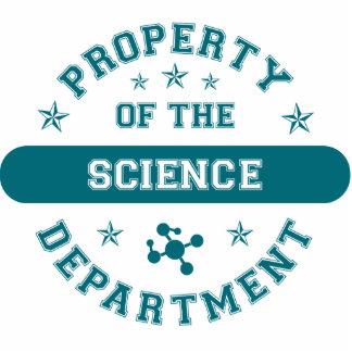 Propiedad del departamento de la ciencia esculturas fotográficas