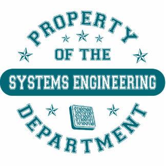 Propiedad del departamento de la ingeniería de sis escultura fotografica