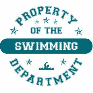 Propiedad del departamento de la natación esculturas fotograficas