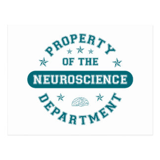 Propiedad del departamento de la neurología tarjetas postales