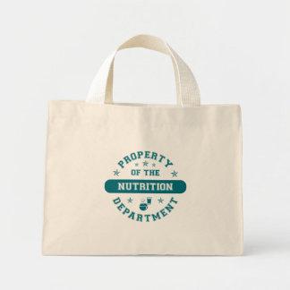 Propiedad del departamento de la nutrición bolsas