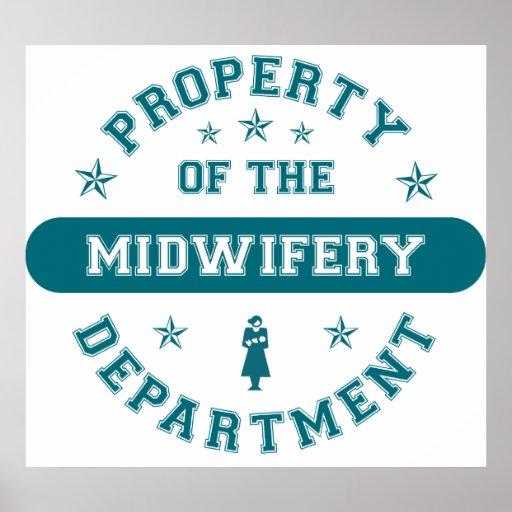 Propiedad del departamento de la obstetricia póster