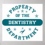 Propiedad del departamento de la odontología poster