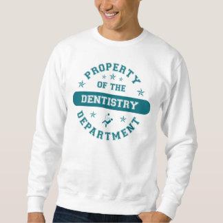 Propiedad del departamento de la odontología sudadera