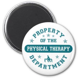 Propiedad del departamento de la terapia física imán para frigorífico