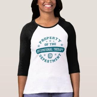 Propiedad del departamento de la terapia profesion camiseta