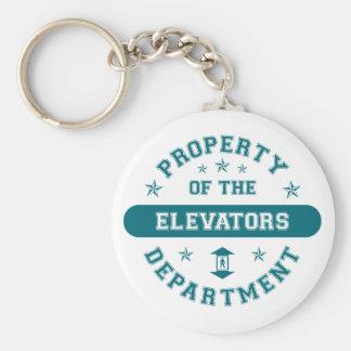 Propiedad del departamento de los elevadores llavero redondo tipo pin