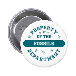 Propiedad del departamento de los fósiles pin