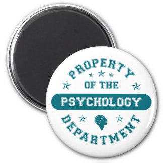 Propiedad del departamento de psicología imán redondo 5 cm