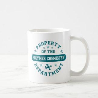Propiedad del departamento de química del polímero taza