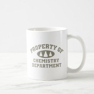 Propiedad del departamento de química taza de café