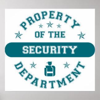 Propiedad del Departamento de Seguridad Posters