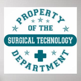 Propiedad del departamento de tecnología quirúrgic poster