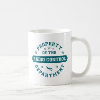 Propiedad del departamento del control de radio tazas