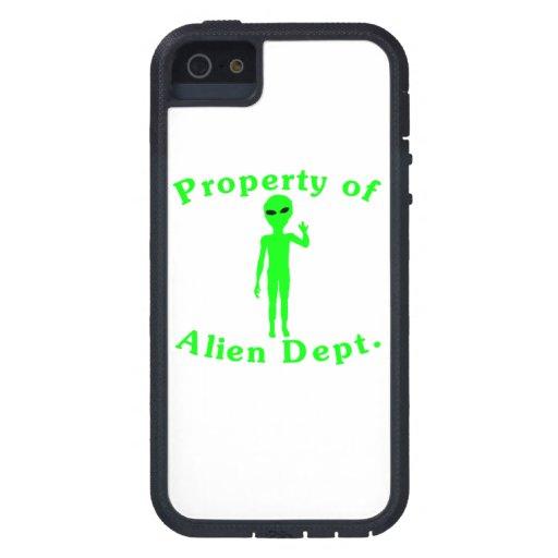 Propiedad del departamento del extranjero iPhone 5 fundas