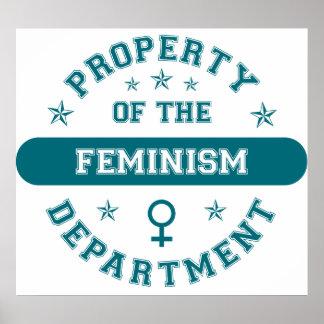 Propiedad del departamento del feminismo impresiones