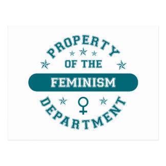 Propiedad del departamento del feminismo postal