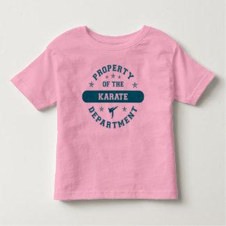 Propiedad del departamento del karate tshirt