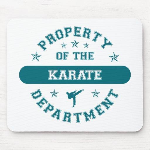 Propiedad del departamento del karate tapete de ratones