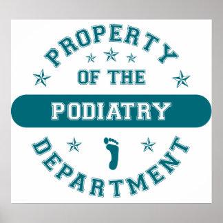 Propiedad del departamento del Podiatry Posters