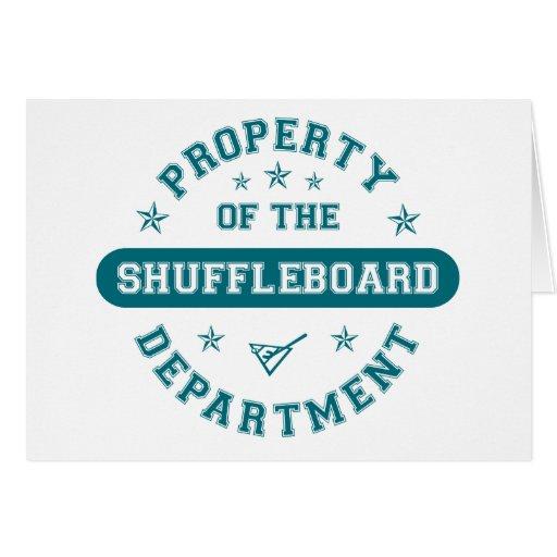 Propiedad del departamento del Shuffleboard Tarjetón