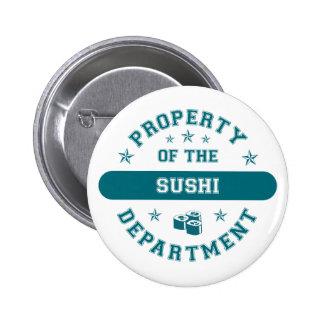 Propiedad del departamento del sushi pin redondo de 2 pulgadas