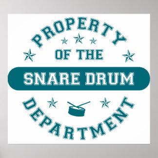 Propiedad del departamento del tambor poster