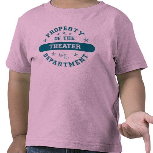 Propiedad del departamento del teatro camiseta